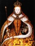 Queen Elizabeth's coronation portrait.